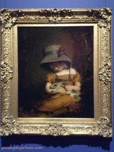 ca. 1800 - Mädchen mit Kaninchen (Girl with a Rabbit)