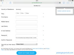 registrasi menggunakan alamat imel